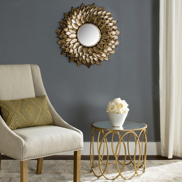 "Safavieh Provence Gold 27-inch Sunburst Mirror - 27"" x 1"" x 27"""