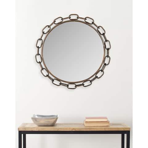"SAFAVIEH Atlantis Chain Link Antique Copper 26-inch Decorative Mirror - 26"" x 2"" x 26"""