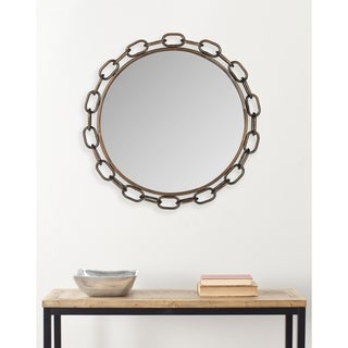 Atlantis Chain Link Antique Copper Mirror
