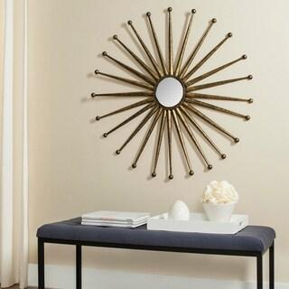 Safavieh Capella Antique Gold 40-inch Sunburst Mirror