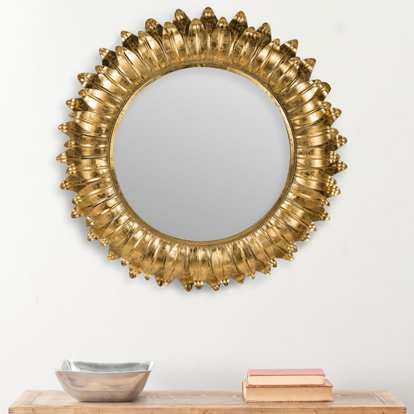 Safavieh Arles Sunburst Gold Foil Petals 35-inch Mirror