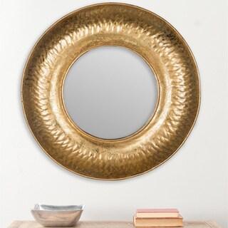 Safavieh Perugia Etruscan Gold Foil 33-inch Circular Mirror