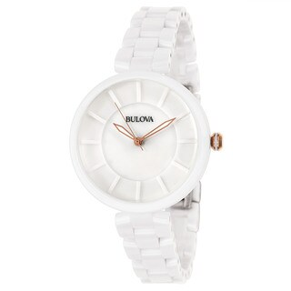 Bulova Women's 'Classic' Ceramic Quartz Watch