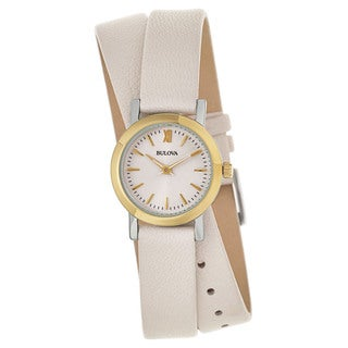 Bulova Women's 'Classic' Stainless Steel and Yellow Gold Plated Quartz Watch