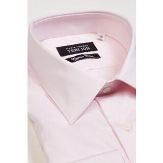 Teri Jon Pour Monsieur Men's Light Pink Egyptian Cotton Dress Shirt