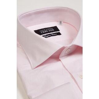 Teri Jon Pour Monsieur Men's Pink Egyptian Cotton Dress Shirt