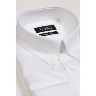 Teri Jon Pour Monsieur Men's White Button-Down Egyptian Cotton Dress Shirt
