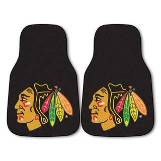 Fanmats Chicago Blackhawks Black Nylon Carpeted Car Mat Set
