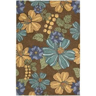 Rug Squared Melbourne Indoor/Outdoor Chocolate Rug (5' x 7'6)