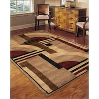 Rug Squared Jericho Multicolor Rug - 3'6 x 5'6