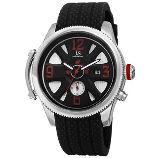Joshua & Sons Sporty Men's Swiss Quartz Multifunction Silver-Tone Strap Watch