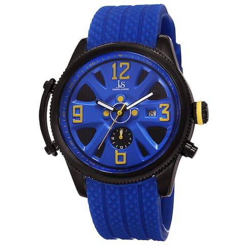 Joshua & Sons Sporty Men's Swiss Quartz Multifunction Blue Strap Watch