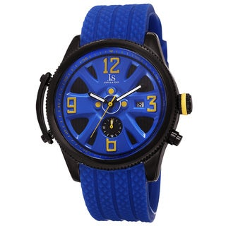 Joshua & Sons Sporty Men's Swiss Quartz Multifunction Blue Strap Watch