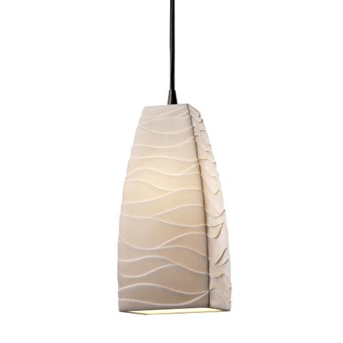 Justice Design Limoges Small Tall Tapered Square Pendant