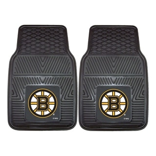 Fanmats Boston Bruins Black Vinyl Car Mat Set