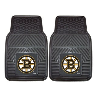 Fanmats Boston Bruins Black Vinyl Car Mat Set