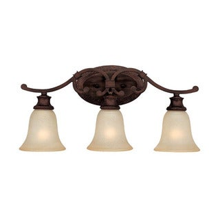 Capital Lighting Hill House Collection 3-light Burnished Bronze Bath/Vanity Light
