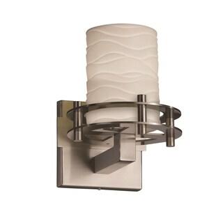 Justice Design Group Limoges Circa Nickel 1-Light Sconce