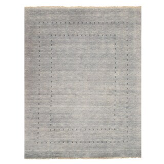 Handmade Wool Gray Traditional Solid Lori Baft Rug - 6' x 9'