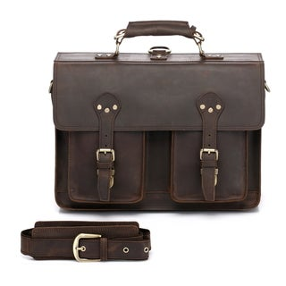 Cambridge Full Grain Leather Briefcase Backpack