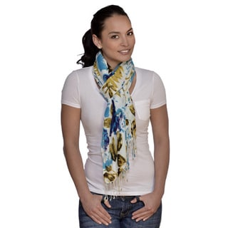 Amtal Floral Multicolored Blue/ Green Scarf
