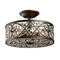 Amherst 4-light Semi-flush in Antique Bronze