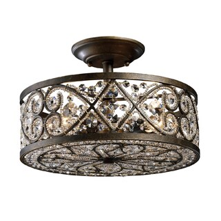 Amherst 4-light Semi-flush in Antique Bronze
