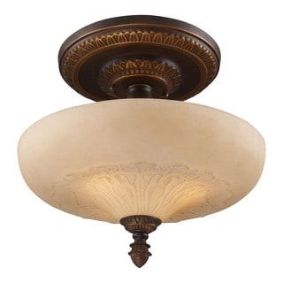 Restoration 3-light Golden Bronze Semi-flush