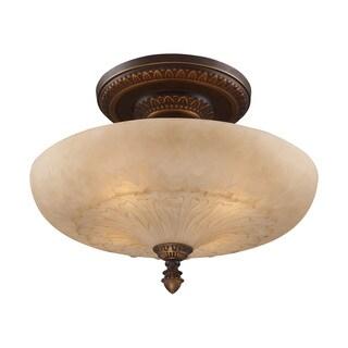 Restoration 4-light Semi-flush in Golden Bronze