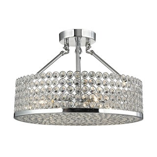 Hammond 4-light Semi-flush in Polished Chrome
