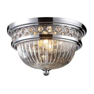 Polished Chrome 2-light Flush Mount
