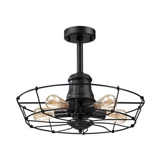 Glendora 5-light Semi-flush in Wrought Iron Black