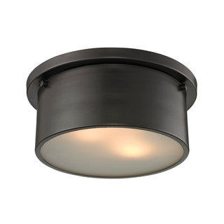 Simpson 2-light Flush Mount in Oil Rubbed Bronze