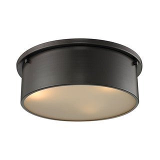 Simpson 3-light Flush Mount in Oil Rubbed Bronze