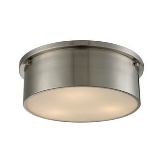 Simpson 3-light Flush Mount in Brushed Nickel