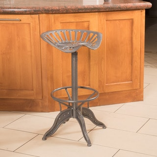 Everly Grey Iron Barstool by Christopher Knight Home