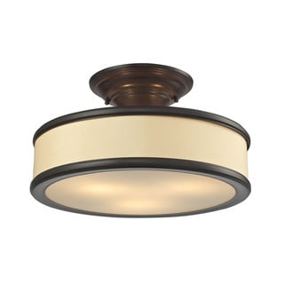 Clarkton 3-light Semi-flush in Oil Rubbed Bronze