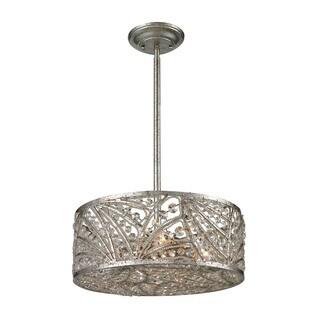 Renaissance 4-light Semi-flush in Sunset Silver