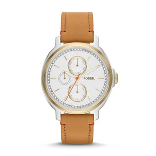 Fossil Women's ES3523 Chelsey Multifunction Tan Leather Watch