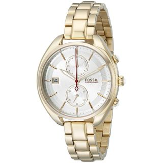 Fossil Woman's CH2976 Land Racer Chronograph Stainless Steel Gold-Tone Watch