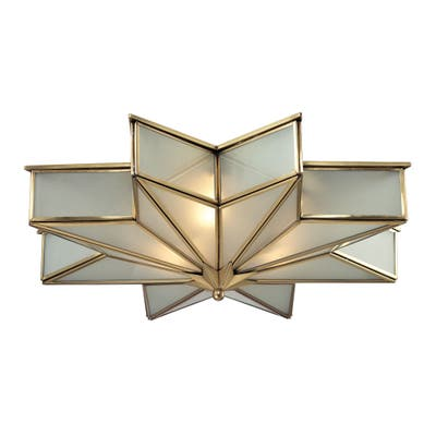 Decostar 3-light Flush Mount in Brushed Brass