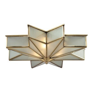 Decostar 3-light Flush Mount in Brushed Brass