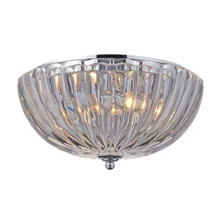 Crystal 2-light Flush Mount in Polished Chrome