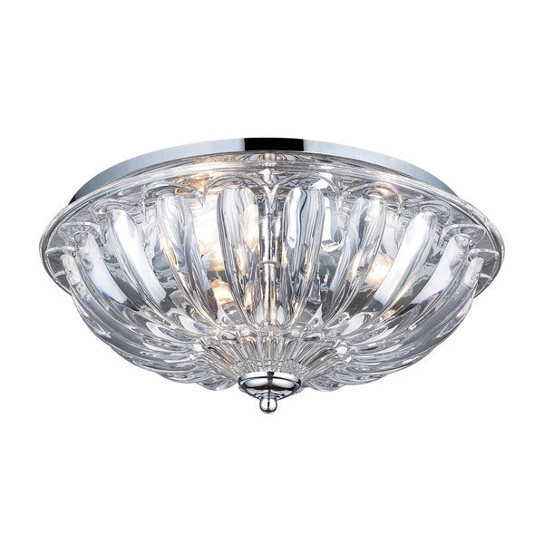 Crystal 3-light Flush Mount in Polished Chrome