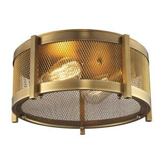 Rialto 2-light Flush Mount in Aged Brass