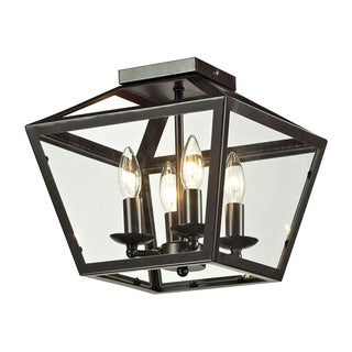 Alanna 2-light Flush Mount in Oil Rubbed Bronze