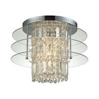 Zoey Polished Chrome 3-light Semi-flush