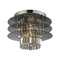 Zoey 3-light Semi-flush in Polished Chrome