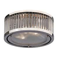 Linden 2-light Flush Mount in Polished Nickel