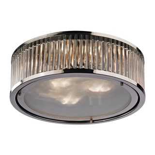Linden 3-light Flush Mount in Polished Nickel